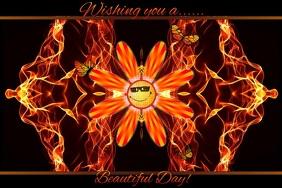Wishing you a Beautiful Day 海报 template