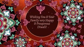 Wishing You a Happy & Prosperous Diwali Digital Display (16:9) template