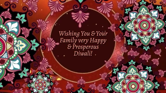 Wishing You a Happy & Prosperous Diwali Digital Display (16:9) template