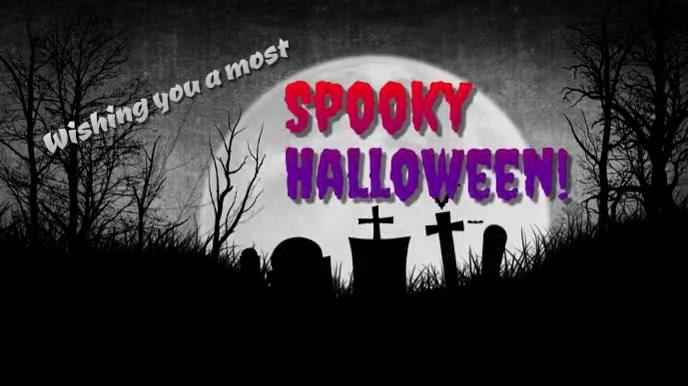 Wishing You a Spooky Halloween Music Video Digitalt display (16:9) template