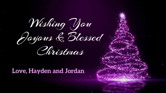 Wishing You Joyous & Blessed Christmas with J Pantalla Digital (16:9) template