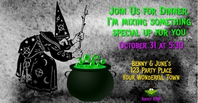 Witch's Brew Modern Funny Invitation