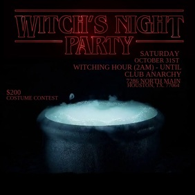 Witch's Night Party Сообщение Instagram template