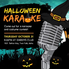 Witchy Halloween Karaoke Party Invite