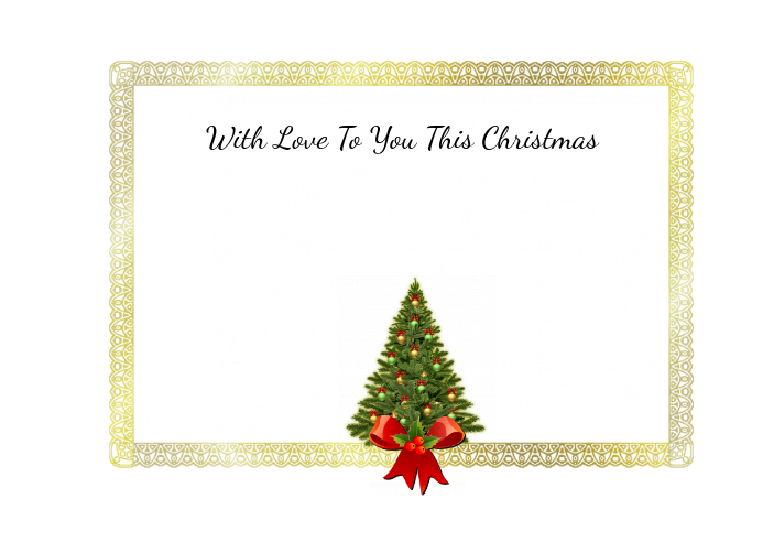 With Love This Christmas Post Card