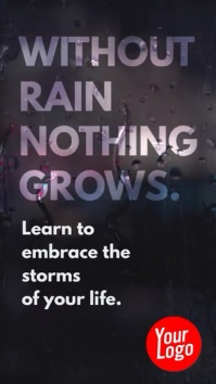 Without rain nothing grows inspiration story
