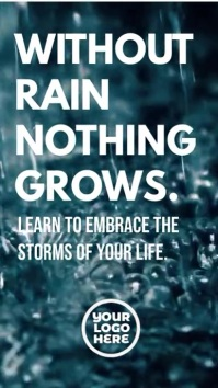 Without rain nothing grows inspiration video Tampilan Digital (9:16) template