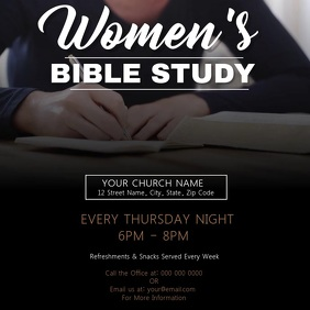 Woman's Bible Study Church Template