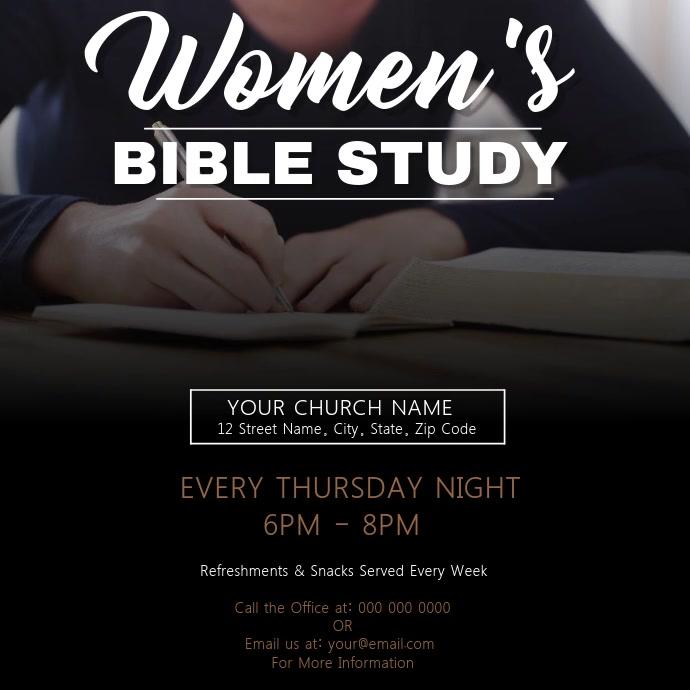 Woman's Bible Study Church Template