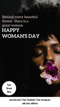 WOMAN'S DAY + FLOWER História do Instagram template