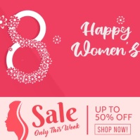 woman's day sale instagram post template