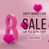 woman's day sale socail media post Instagram-bericht template