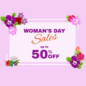 woman's day sales instagram post