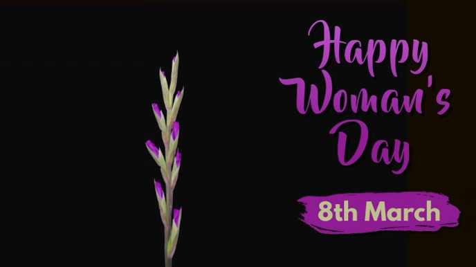 Woman's Day Video Ad Template Pantalla Digital (16:9)