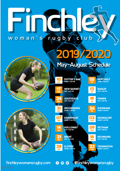 Woman's Rugby Team Poster