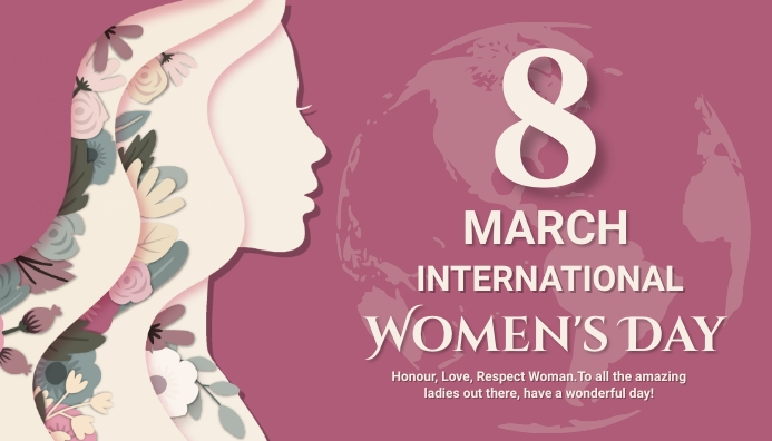 woman day, women's day, sale day, event ส่วนหัวบล็อก template