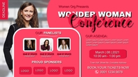 Woman Day Conference poster banner digital di template