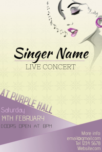 Woman singer live concert poster