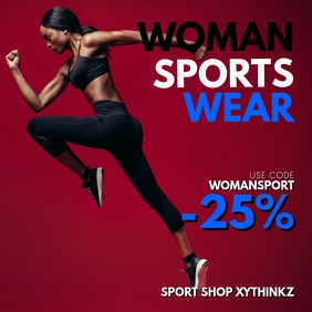 Woman sports Wear Fashion Sale Shop Store Ad