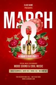 Womans Day Party Flyer