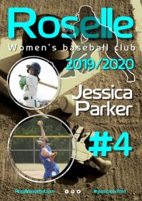 Women's Baseball Player Poster