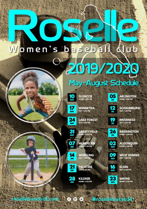 Women's Baseball Team Poster