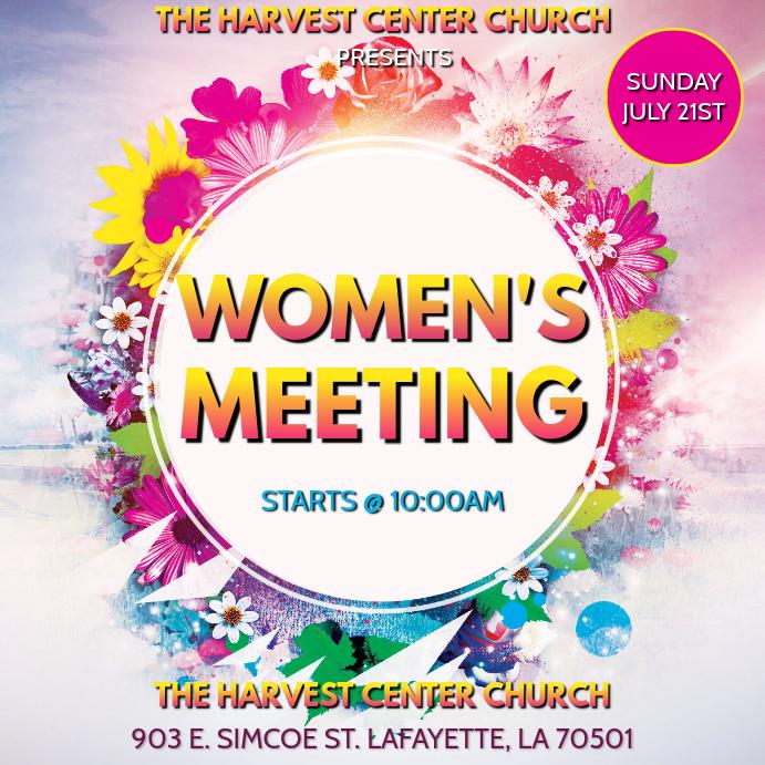 WOMEN'S CHURCH MEETING Сообщение Instagram template