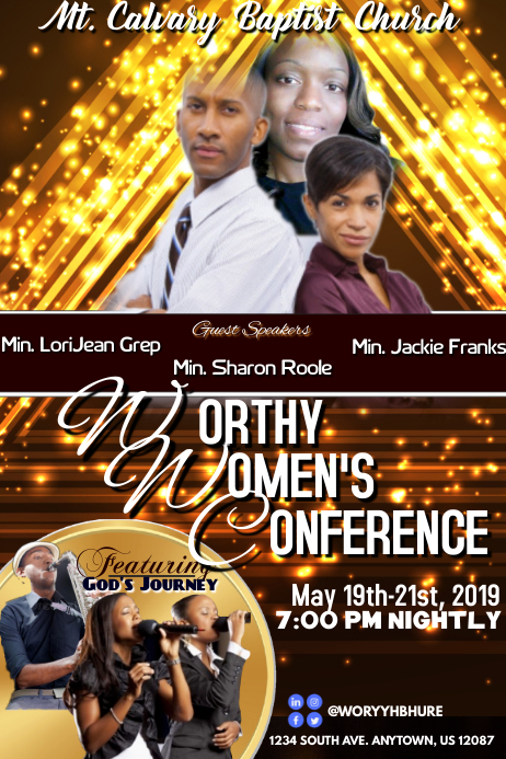 WOMEN'S CONFERENCE 2019 Plakat template