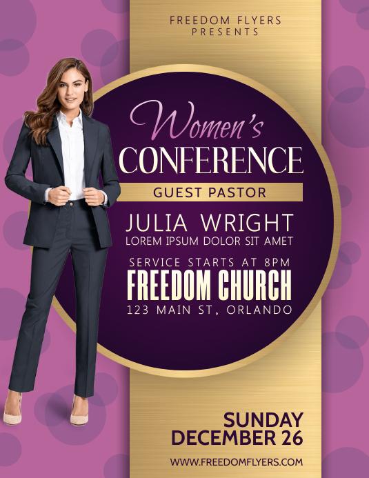 Women's Conference Church Event Flyer 传单(美国信函) template