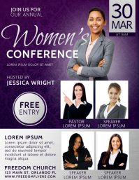 Women's Conference Church Flyer Template