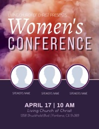 Women's Conference Flyer (US-Letter) template