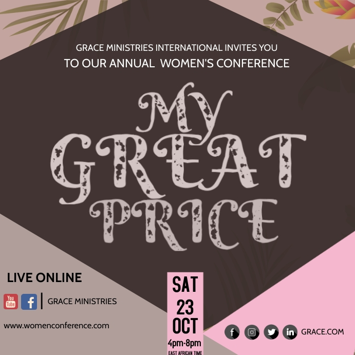 WOMEN'S CONFERENCE Iphosti le-Instagram template