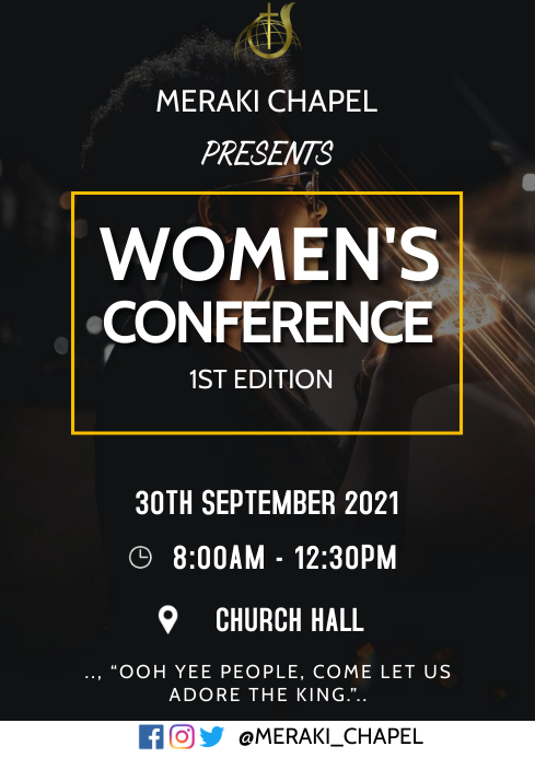 Women's conference A3 template