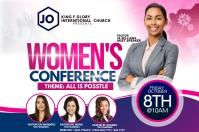 women's conference Плакат template