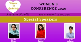 Women's Conference Facebook Template