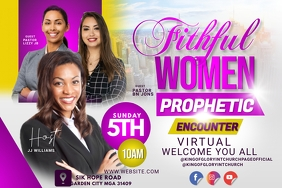 Women's conference flyer Label template