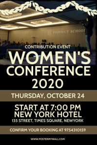 Women's Conference meet Template Poster
