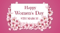 women's day, event, greeting Twitter-Beitrag template
