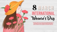 women's day, event, sale, party Blog Header template