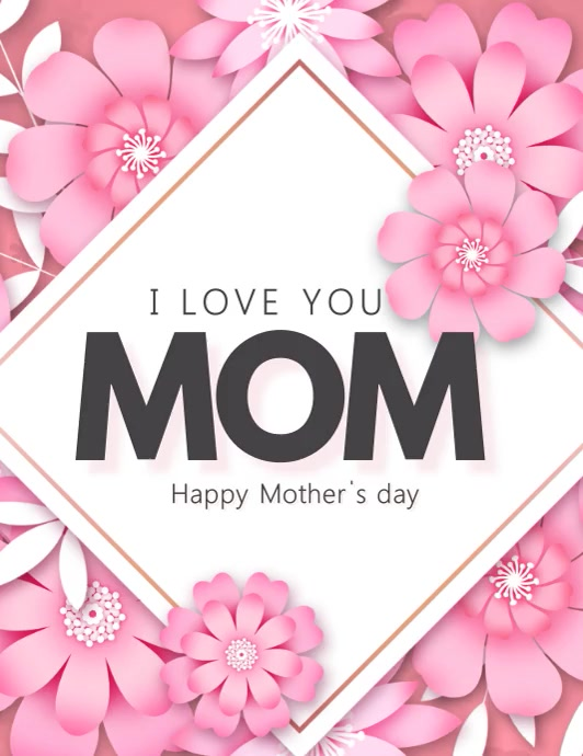 women's day, mother's day Folheto (US Letter) template