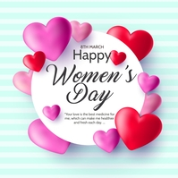 women's day,Mother's day Cuadrado (1:1) template