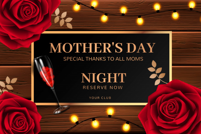 women's day , mother's day Transparent 4 stopy × 6 stóp template