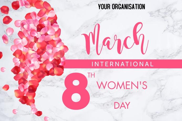 Women's Day 2021 Cartaz template