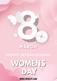 Women's Day 2021 flyer A3 template
