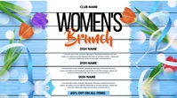 Women's day brunch, mother's day,menu Twitch Banner template