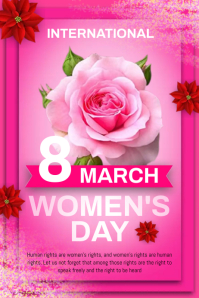 women's day card Póster template