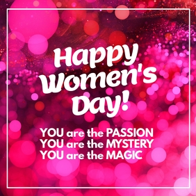 Women's Day Card You are Passion, Magic, Mystery