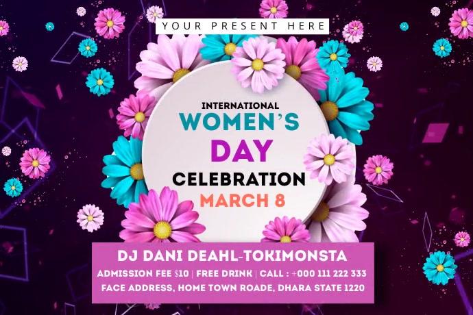 Women's Day Celebration Banner 4' × 6' template