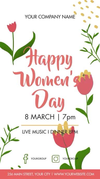 women's day celebration Instagram Story template