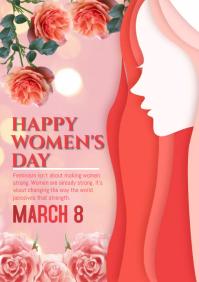 women's day celebrtion A5 template